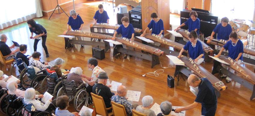 神戸市西区で琴の演奏会
