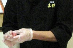 神戸市西区の有料老人ホームイベントにぎり寿司